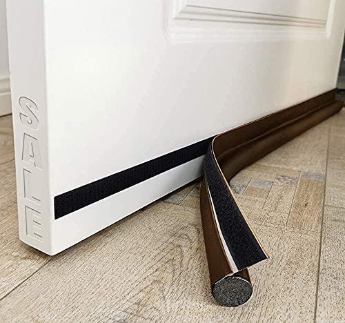 MAXTID Door Draft Blocker 34inch Brown Door Noise Blocker Sound Proof