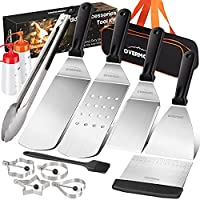 13-Piece Overmont Grill Griddle Accessories Set for Indoor-Outdoor BBQ, Camping