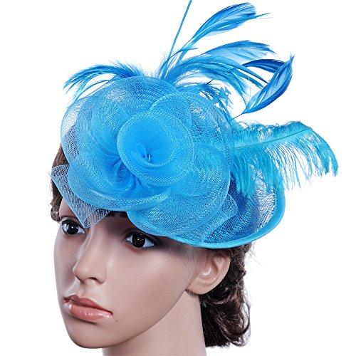 Diadema de plumas bohemio Bailarina de novia elegante for mujer Tocado de...