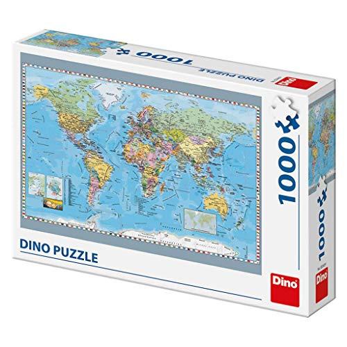 Dino Toys 532489 - Puzzle de juguete con mapa político del mundo , color/modelo surtido