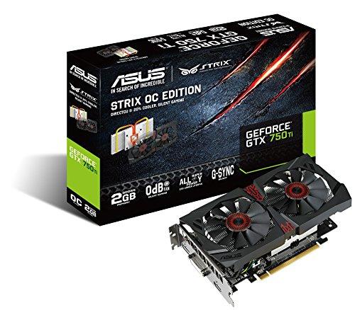 Asus STRIX-GTX750TI-OC-2GD5 Grafikkarte (PCI-e 3.0 x16, 2GB GDDR5 Speicher, DVI, HDMI, DisplayPort, 1 GPU)