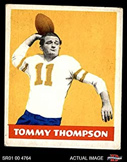 1948 Leaf # 9 YEL Tommy Thompson Philadelphia Eagles (Football Card) (Yellow Jersey Number) Dean's Cards 3 - VG Eagles