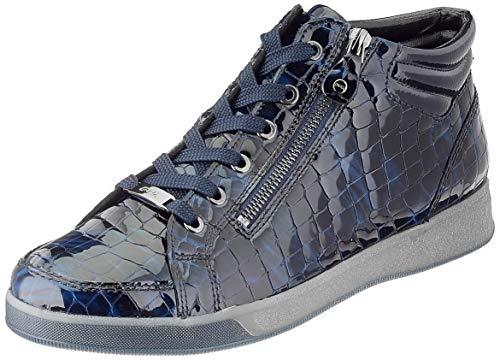 ARA Damen ROM Sneaker, Marineblau, silberfarben, 42 EU