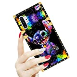 DISNEY COLLECTION Samsung Galaxy Note 10 Plus/Samsung Note 10+ 5G Case Square Cover Stitch Scrawl Pattern Design Flexible Soft TPU Reinforced Luxury Metal Decoration Corners Shockproof Slim Shell