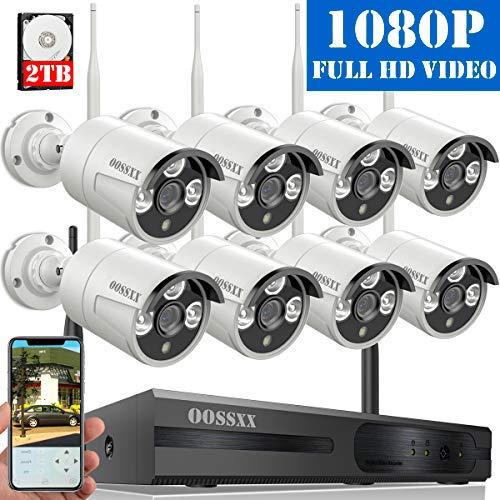 【2020 Nuevo】Sistema de Cámara de Video Seguridad, 8 Canal 1080P NVR Kit de...