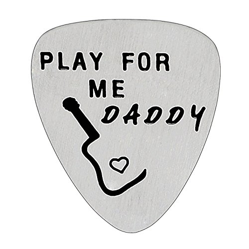 Play For Me Daddy Guitar Pick Father Gifts for Dad Papa from...