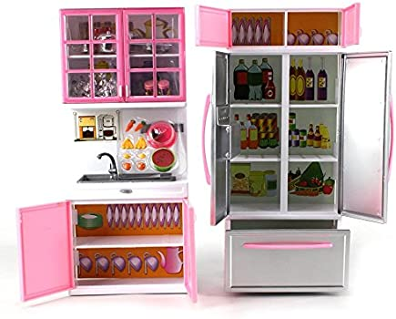 Deluxe Modern Kitchen Battery Operated Toy Kitchen Playset Perfect For Use With 11 5 Tall Dolls Buy Online At Best Price In Uae Amazon Ae