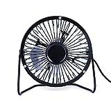 LDH Mini Ventilador De Escritorio Usb De 4 Pulgadas, Ventilador De Refrigeración Portátil Pequeña Mesa Compacta Table De Ventilador Para Oficina, Habitación De Escritorio Pequeño Pequeño Ventilador Pe