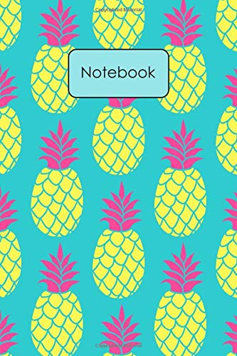 Notebook: Trendy Pineapple Pattern Blank Lined Journal To...