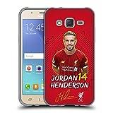 Officiel Liverpool Football Club Jordan Henderson 2019/20 Première Équipe Groupe 1 Coque en Gel...