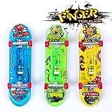 Sipobuy 3pcs Mini Skateboard Toy Deck Truck Finger Board Skate Park con luz, Boy Kids Niños Regalo