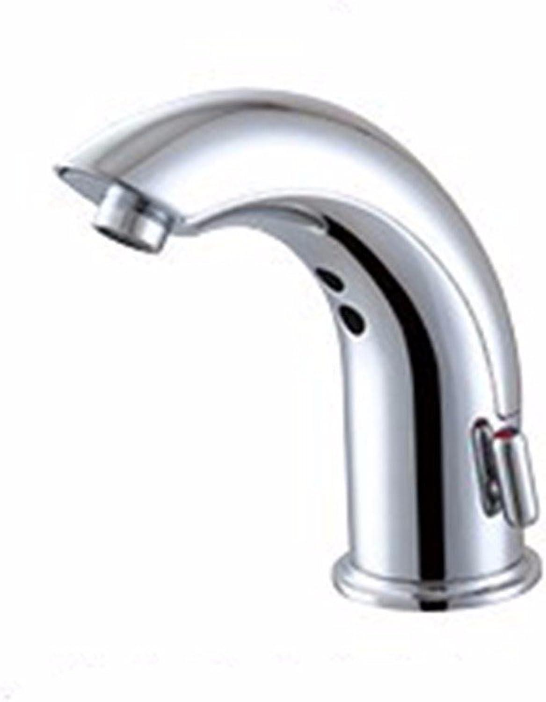 Bijjaladeva Wasserhahn Bad Wasserfall Mischbatterie Waschbecken Waschtisch Armatur Waschbeckenarmatur für BadezimmerSensing Wasserhahn Integrated Sensing Temperaturerfassung Ein