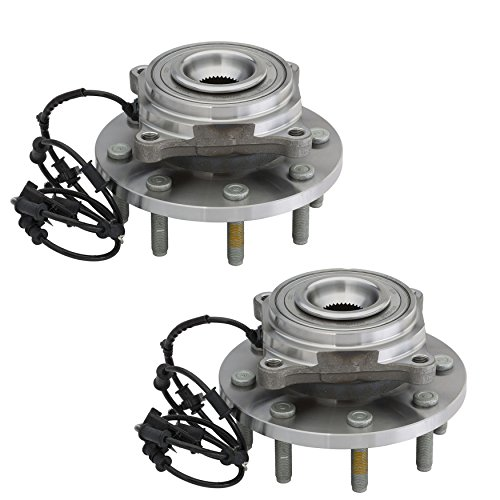 Detroit Axle 515148 Front Driver & Passenger Wheel Hub & Bearing Assembly for 2012 2013 Ram 2500 3500 4x4 ONLY 8 Lug