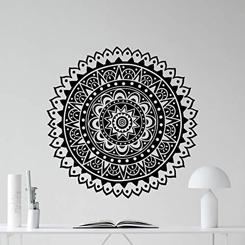 Mandala Wandtattoo Lotus Flower Vinyl Aufkleber Wohnzimmer Namaste Modern Home Decor Wandbild Aufkleber Wallpaper 57 * 57Cm