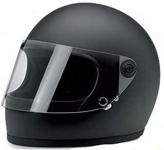 Biltwell (GS-BLK-FL-XL) Gringo S DOT Certified Full-Face-Helmet-Style Helmet (Flat Black, X-Large)