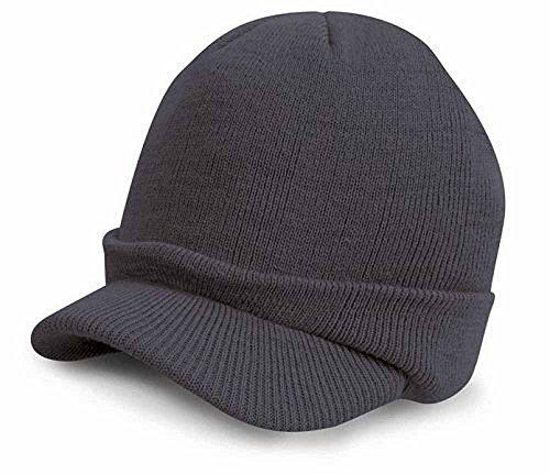 Result - Bonnet casquette visière RC060 - laine - mixte adulte - coloris olive mash
