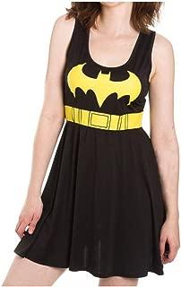 DC Comics Batgirl Women's A-Line Scoop Neck Dress- Slim Medium Black