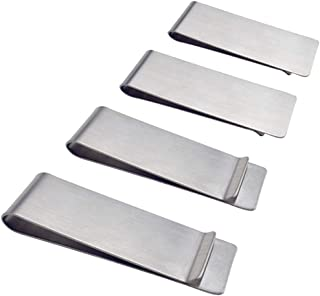 Stainless Steel Money Clip, SourceTon 2-Pack Slim Wallet, Credit Card Holder, Minimalist Wallet - Silver