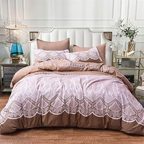 CCBAO Textiles para El Hogar De 3 Piezas Fundas Nórdicas Y Fundas De Almohada Frescas Y Hermosas Ambiente Simple Fácil De Limpiar 220x240cm