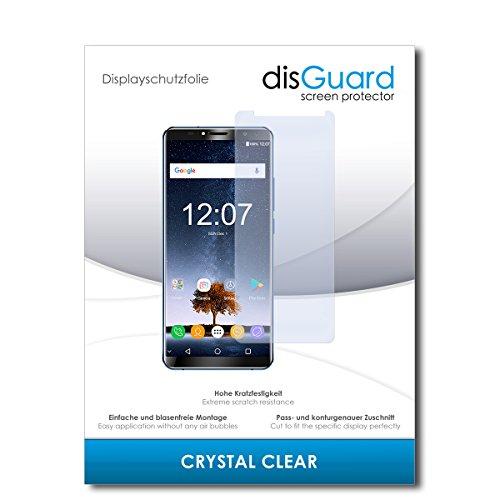disGuard® Bildschirmschutzfolie [Crystal Clear] kompatibel mit Oukitel K6 [2 Stück] Kristallklar, Transparent, Unsichtbar, Extrem Kratzfest, Anti-Fingerabdruck - Panzerglas Folie, Schutzfolie