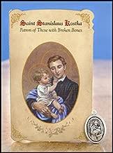 6pc Patron Saints of Healing St. Stanislaus Kostka (Broken Bones) Healing Holy Card with Medal