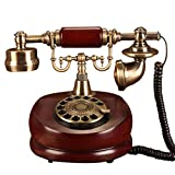 Festnetztelefon/Europäisches Haus Retro Telefon/Altmodisches Antikes Telefon/Hölzernes Telefon/Europäisches Telefonhaus Örtlich Festgelegtes Retro Telefon Retro Antike Art Und Weise, 25 * 18 *