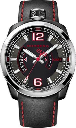 Bomberg Reloj Analógico para Hombre de Cuarzo con Correa en Cuero BS45.004