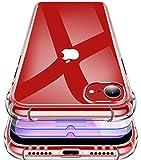 Garegce Coque pour iPhone Se 2020, 2 x Verre Trempé Protection écran,Coque pour iPhone 8,Coque pour iPhone 7 Transparent Silicone Souple, Antichoc Protection Cover pour iPhone Se,7,8-4.7pouces-Clair