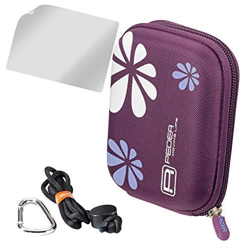 PEDEA Hardcase Kameratasche für Aberg Best 21 / Canon IXUS 275 HS, 285 HS, PowerShot D30 / Olympus TG 3 / Panasonic Lumix DMC TZ58 / Sony Alpha 5000, DSC-HX99, DSC-RX100