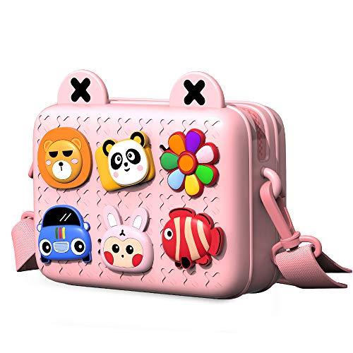 Richgv Kids Crossbody Bag, Leichte Umhängetasche, Geldbörse Easy Clean Süße...