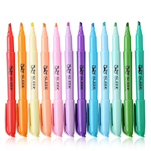 Mr. Pen- Pastel Highlighters, 12 Pack, Assorted Colors, Fast Dry, Highlighter Pastel, Pastel Highlighter Set, Bible Journaling Highlighter, Pastel Marker, Colored Highlighters, Pastel School Supplies