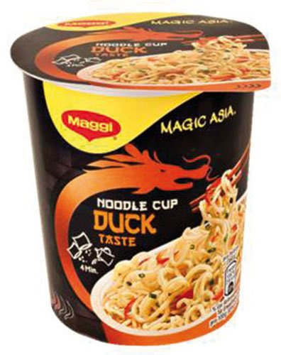 8x Maggi - Magic Asia Noodle Cup Duck, Instant Nudel Snack