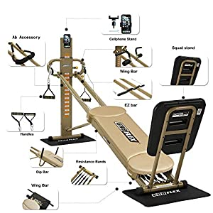 GR8FLEX High Performance Gym - Golden XL Model with Total Over 100 Workout Exercises