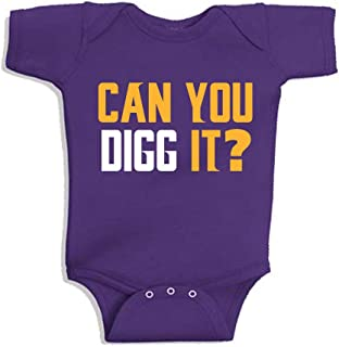 Purple Minnesota Diggs Can You Digg It? Baby 1 Piece