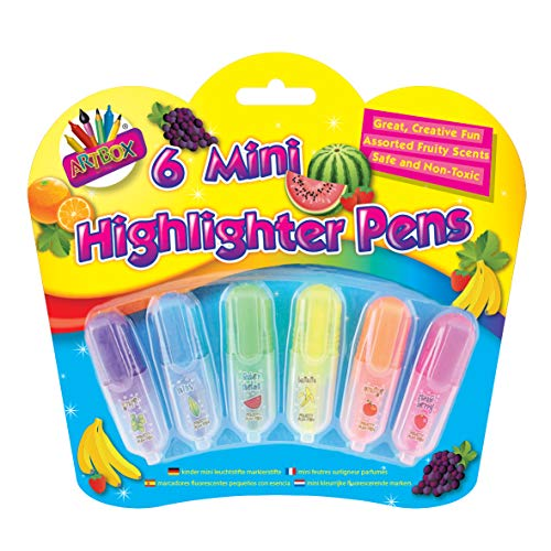Just Stationery - Mini rotuladores fluorescentes perfumados (6 unidades)