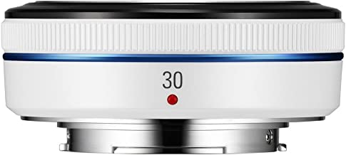 Samsung NX 30mm f/2.0 Camera Lens (White)