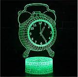 Diseño De Reloj Lámpara De Ilusión 3D Hoom Decoración De...