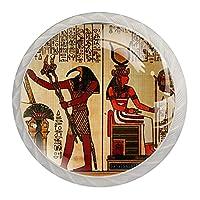 古代エジプト, キッチンキャビネットノブ引き出しノブプルハンドルクリスタルガラスプルホームオフィス寝室リビングルームバスルーム(4個)