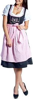 MIDI de tirolesa Frida Negro/Rosa Acero Color Blanco Incluye Blusa y delantal Tracht 32–46