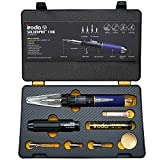 Iroda Solderpro 110K Cordless Soldering Iron Kit, 4-in-1 Portable Heat Shrink, Hot Knife, Butane Soldering Iron Torch, Perfect For Hobbyists, 25 Second Heat Up, 100 Mins Run Time Butane Not Included