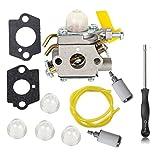 oxoxo con junta para carburador combustible línea destornillador y pera de filtro para 2tiempos 25cc 26cc 30cc Ryobi ry29550ry30530ry30550ry30570Zama C1U-H60Homelite ut32600ut32650