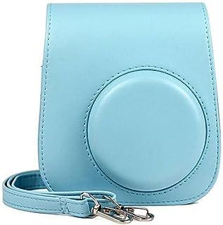 Camera Case Schoudertas PU Lederen Cover Beschermende Tas Met Schouderriem Voor Fujifilm Instax Mini 9 Ijsblauw 140 * 125...