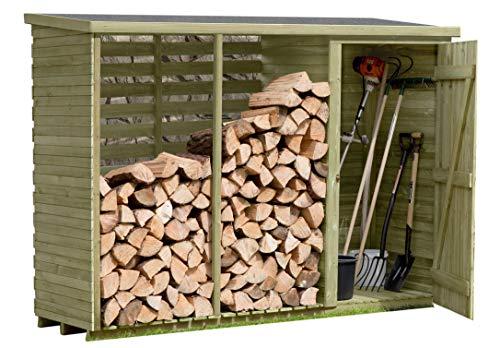 Gartenpirat -   Brennholzregal mit