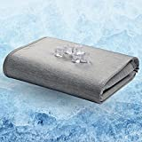 Bedsure Cotton Blanket Throw - Cooling Summer Blanket for Bed and Couch, Breathable Soft Double Side Blanket with Cooling & Cotton Fiber for Baby and Pet, Grey 50' x 60'