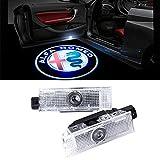 QJZoncuji Car LED proiettore della lampada della porta Ghost Shadow Benvenuto Luce Kit (For Alfa 1)
