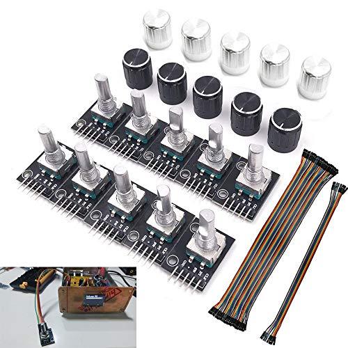 Modulo encoder rotativo Youmile 10Pack KY-040 con 15 × 16,5 mm con tappo per manopola per scheda di sviluppo interruttore sensore mattone Arduino AVR PIC compatibile