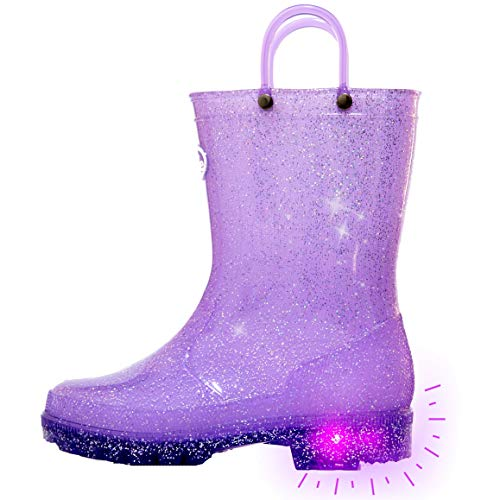 Outee Girls Rain Boots Kids Toddler…