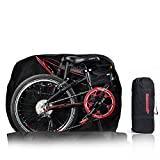 MIGHTUDUTY Folding Bike Cover Bicycle Bags with Transport Bag Thickened Portable Bicycle Travel Case Bike Transport Bag with Shoulder Strap for Travel Outdoor