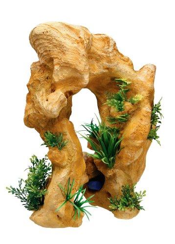 Nobby Rocher de Lave avec Plantes Décoration pour Aquarium 25 x 21,5 x 34,5 cm