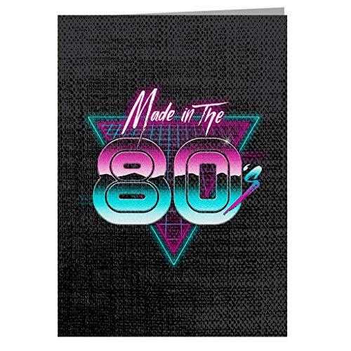 Gemaakt in de jaren '80 Retro Triangle wenskaart